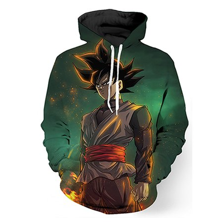 Green Printed Long Sleeve Graphic Hoodie  Hoody