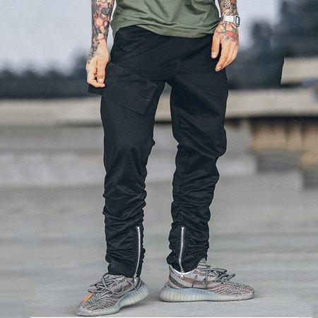 Zipper Casual Cotton Pants