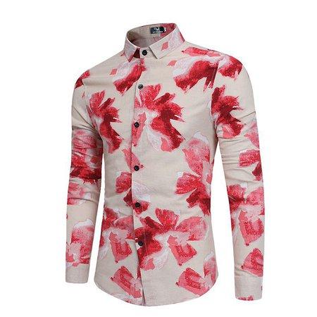 Printed Casual Long Sleeve Shirt