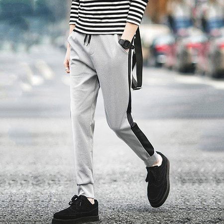 Solid Sports Cotton Pants