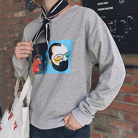 Casual Printed Long Sleeve Sweatshirts