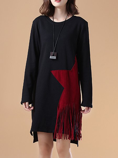 Long Sleeve Casual Shift Dress