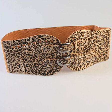 Women Leopard Print Sexy Weaving Cloth Belt