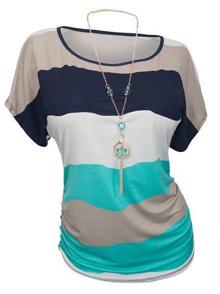 Short Sleeve Stripes T-Shirt