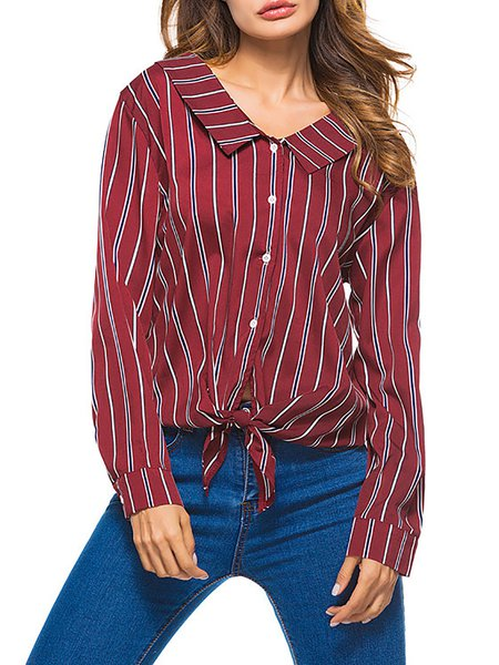 Long Sleeve Stripes Shirts