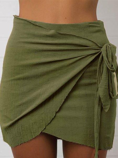 Asymmetric Bodycon Casual Skirt