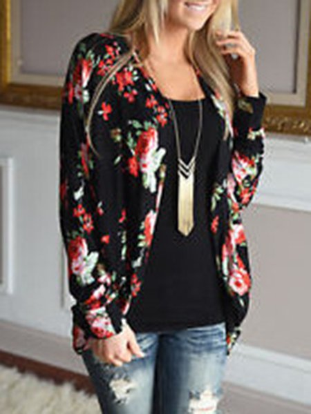 Casual Painted Long sleeve Coat