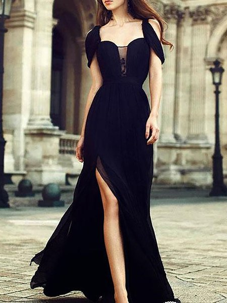 Cold Shoulder Swing Prom Dresses