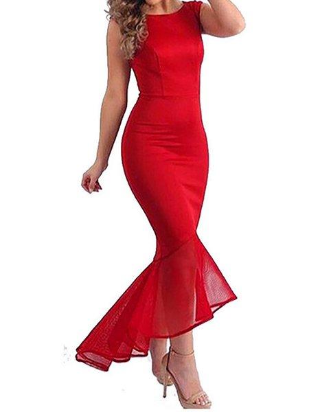Sleeveless Mermaid Prom Dresses
