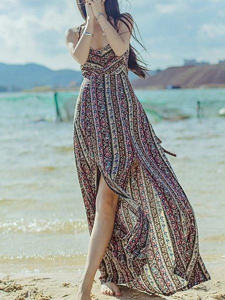 Boho Spaghetti Print Dresses