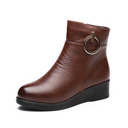 Casual Zipper Platform PU Boots