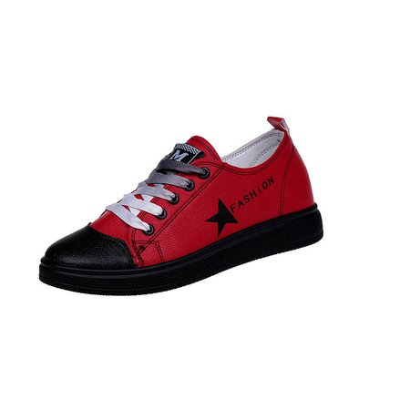 Athletic Lace-up PU Sneakers