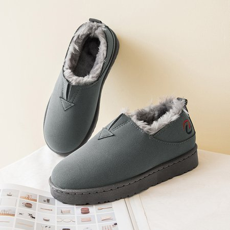 Casual Fur Lining Slip On Platform Boots