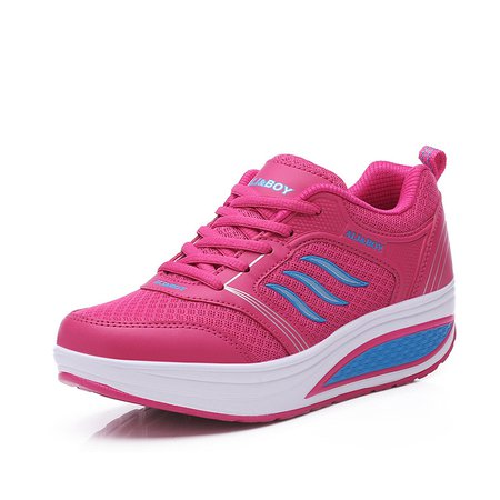 Breathable Platform Lace-up Mesh Sneakers