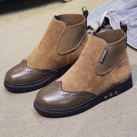Panel Elastic Slip On Martin Boots
