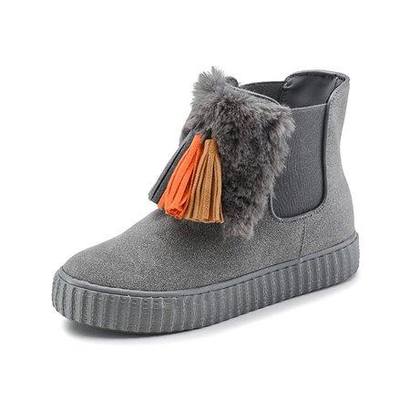 Tassel Flurry Suede Slip On Boots