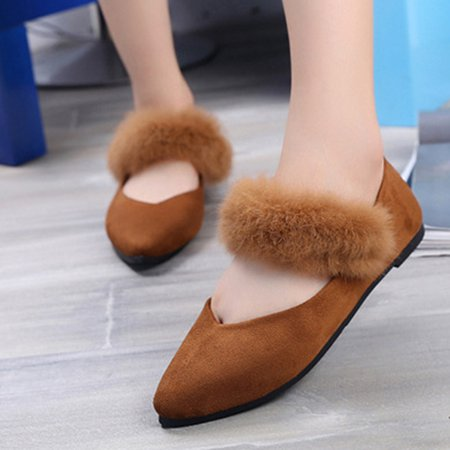 Suede Pointed Toe Flurry Flats
