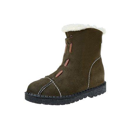 Casual Non Slip Suede Zipper Boots