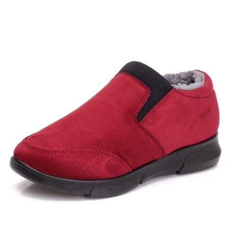 Women Fur Lining Warm Suede Non Slip Boots