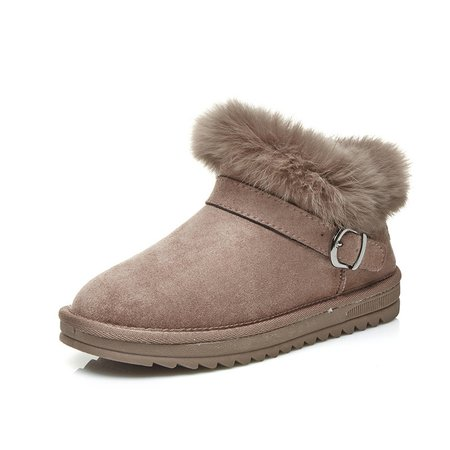 Flurry Buckle Non Slip Casual Suede Boots