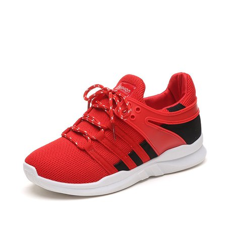 Color Block Breathable Cloth Lace-up Sneakers