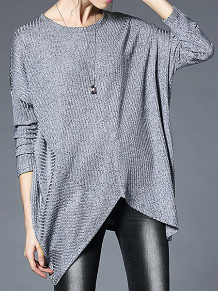 Long Sleeve Casual Knitted Tunic Top