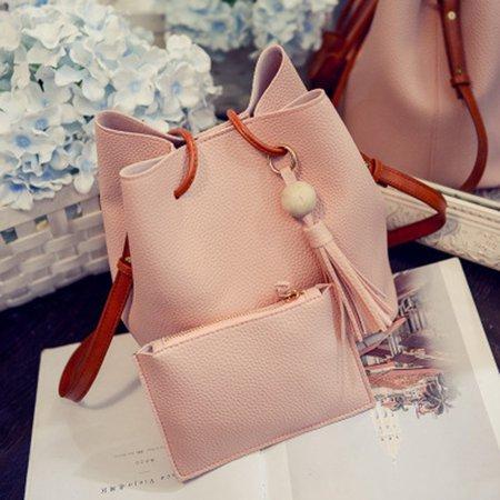 Sweet Tassel Decoration Handbag Crossbody Shoulder Bucket Bag