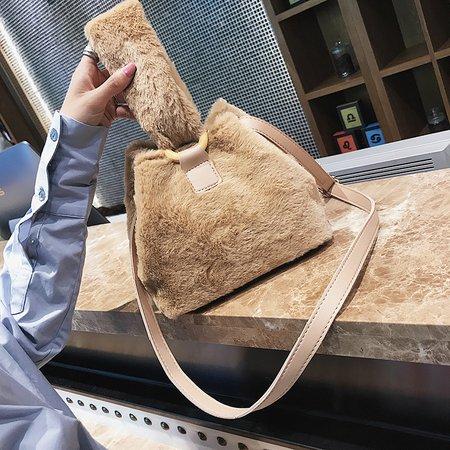 Women Chic Velvet Sweet Tote Shopping Dating Shoulder Crossbody Bag