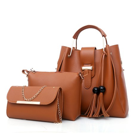 Fashionable 3 PCS PU Leather Multifunctional Tote For Women Shoulder Crossbody Bags