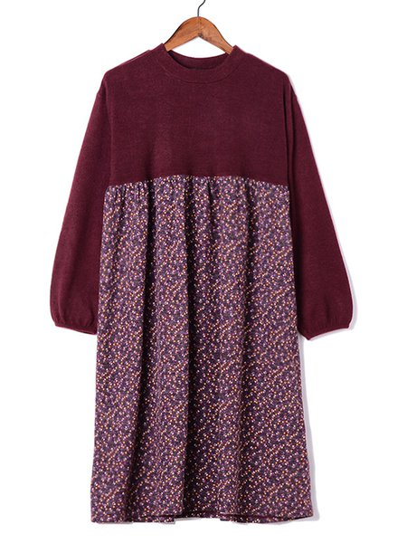 Casual Paneled Dress