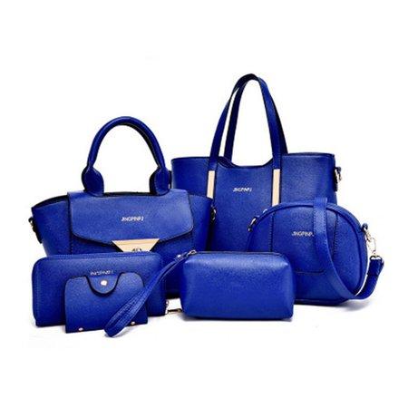Woman 6PCS Versatile Elegant Handbag Fashionable Crossbody Shoulder Bag