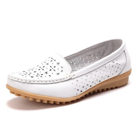 Casual Non Slip Hollow-out Bow Flats