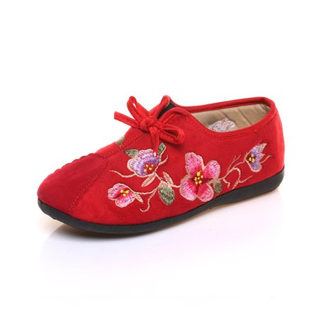 Casual Suede Flower Embroidered Loafers