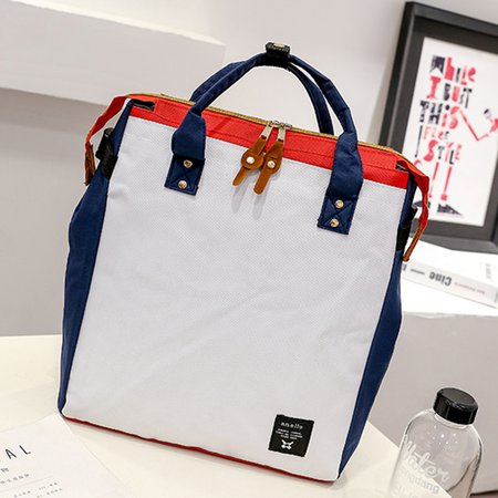 Women Men High Capacity Casual Canvas Tote Backpack School Bag