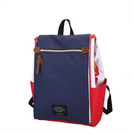 Women Men Stylish High Capacity Casual Canvas Tote Backpack School Bag