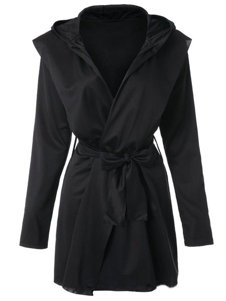 Long Sleeve Solid Casual Cotton-blend Coat