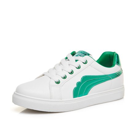 Athletic Microfiber Lace-up Sneakers