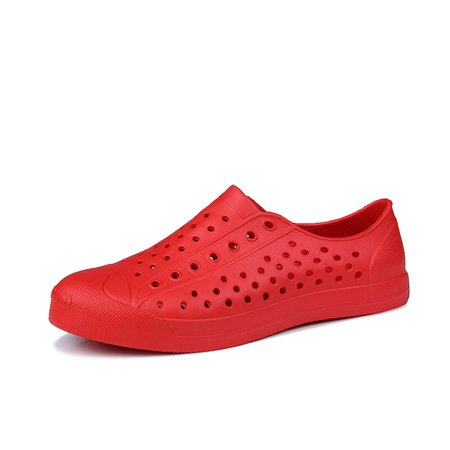 Large Size Plastic Slip On Hollow-out Shoes