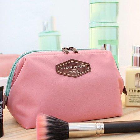 Ladies Cute Canvas Versatile Travel Cosmetic Storage Bag