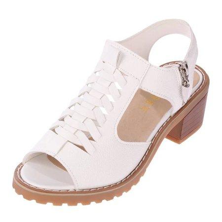 Braid Zipper Non Slip Low Heel Sandals