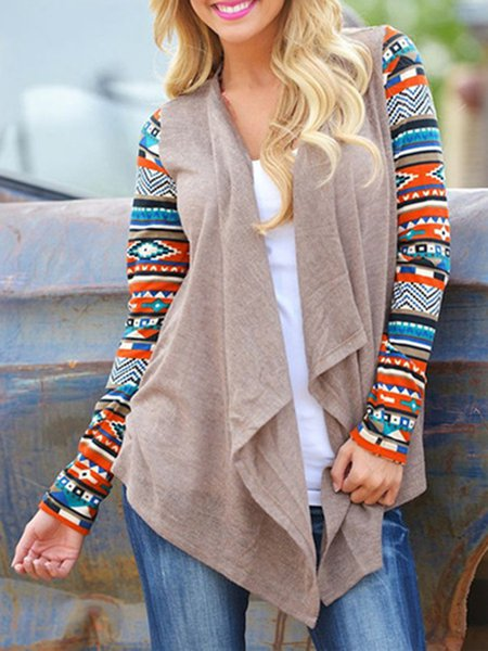 High Low Boho Open Front Air Conditioning Asymmetrical Cardigan