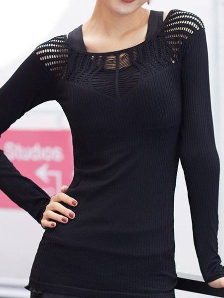 Solid Long Sleeve Sports T-Shirt