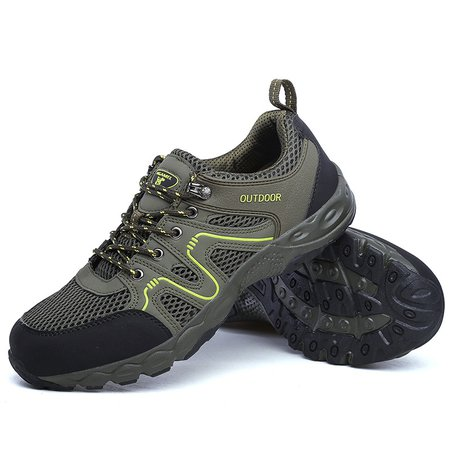 Large Size Breathable Panel Hiking Sneakers