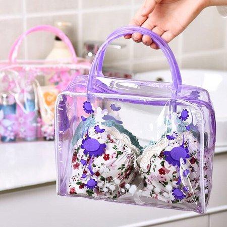 Waterproof Flower Printed Home Washing Bag Ladies Underwear Handbag Cosmetic Storage Bags