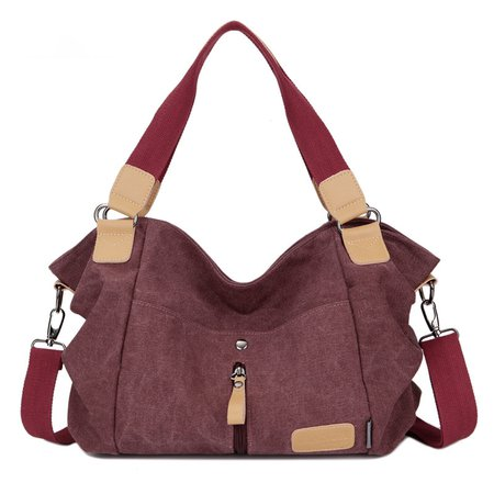 Durable Canvas Casual High Capacity Handbag Crossbody Bag For Women