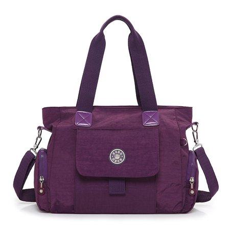 Women Waterproof Oxford Muti Pockets Outdoor Large Capacity Handbag Crossbody Bag
