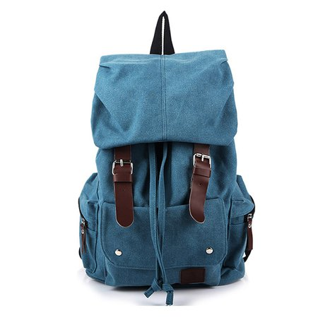 Mult Pockets High Capacity Travel Outdoor Casual Durable Canvas Backpack