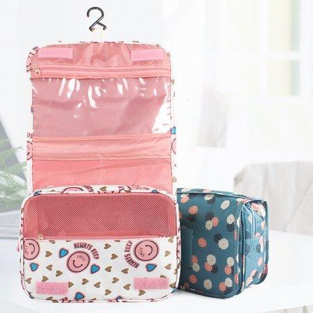 Waterproof Oxford Multifunctional Hang Bag Printed Cosmetic Storage Bag