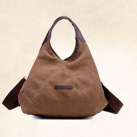 Women High Capacity Cotton Canvas Shopping Hobo Handbag Crossbody Bag