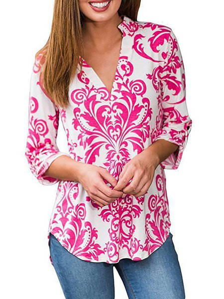 Floral Cotton-blend Long Sleeve T-Shirt